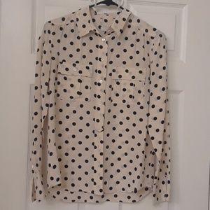 Polka dot J Crew blouse